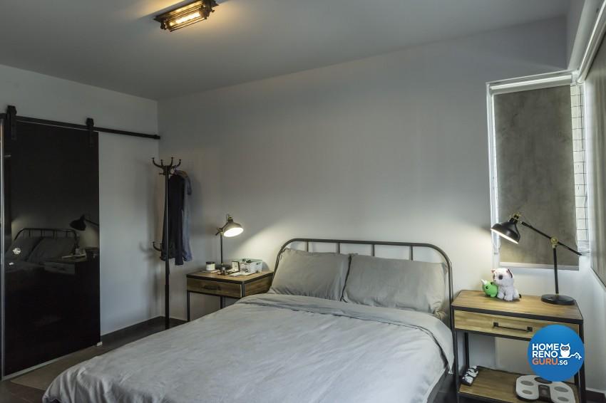 Industrial Design - Bedroom - HDB 3 Room - Design by Design 4 Space Pte Ltd