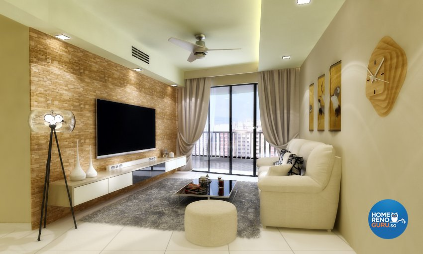 Scandinavian Design - Living Room - Condominium - Design by Design 88 Interior & Consultant