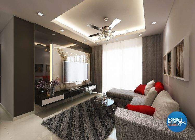 Contemporary, Modern Design - Living Room - Condominium - Design by Design 88 Interior & Consultant