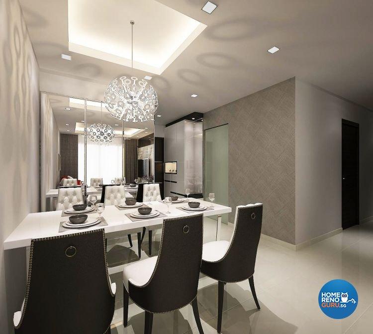 Contemporary, Modern Design - Dining Room - Condominium - Design by Design 88 Interior & Consultant