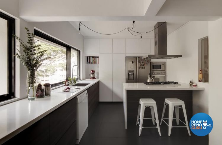 Contemporary, Minimalist Design - Kitchen - Landed House - Design by Design Channel