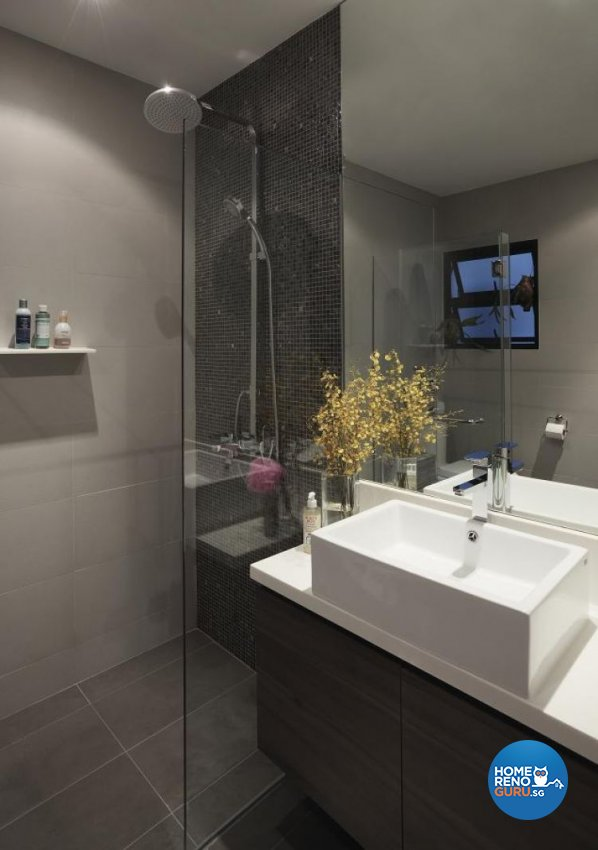 Contemporary, Minimalist Design - Bathroom - Landed House - Design by Design Channel