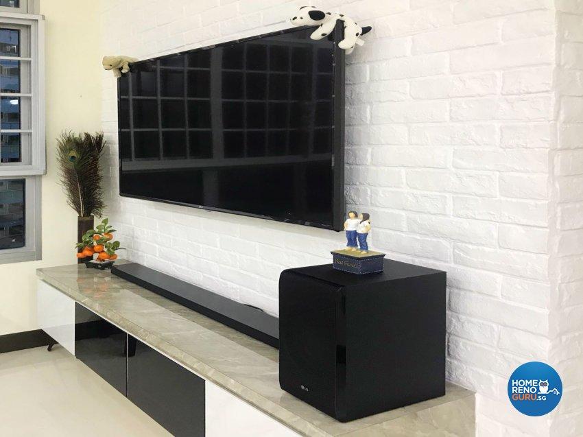 Contemporary, Scandinavian Design - Living Room - HDB 3 Room - Design by Design Creative Pte Ltd