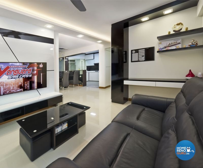 Contemporary Design - Living Room - HDB 4 Room - Design by Design Profession Pte Ltd