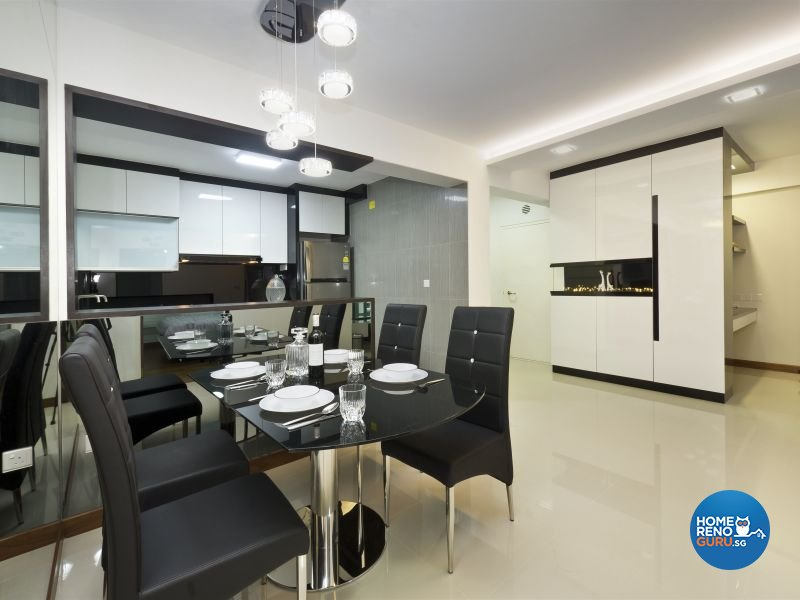 Contemporary Design - Dining Room - HDB 4 Room - Design by Design Profession Pte Ltd