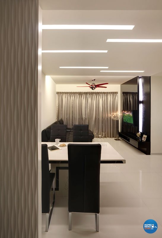 Contemporary, Modern Design - Living Room - HDB 4 Room - Design by Design Profession Pte Ltd