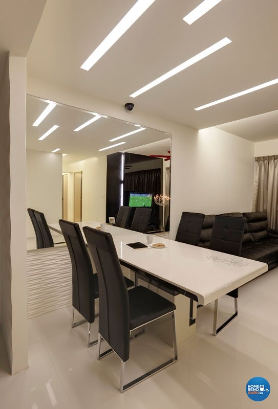 Contemporary, Modern Design - Dining Room - HDB 4 Room - Design by Design Profession Pte Ltd
