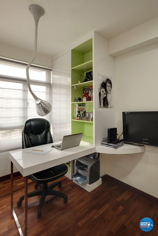 Contemporary, Modern Design - Study Room - HDB 4 Room - Design by Design Profession Pte Ltd