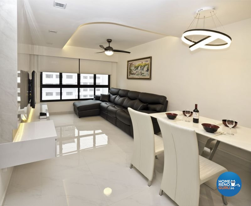 Classical, Minimalist, Modern Design - Dining Room - HDB 4 Room - Design by Design Profession Pte Ltd