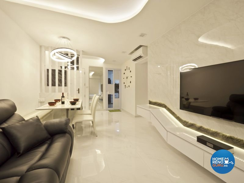 Classical, Minimalist, Modern Design - Living Room - HDB 4 Room - Design by Design Profession Pte Ltd