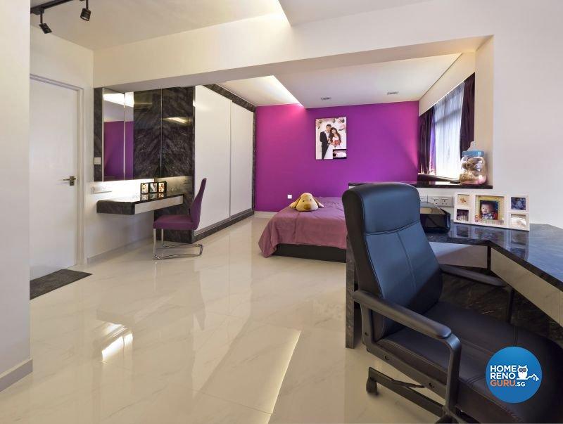 Classical, Minimalist, Modern Design - Bedroom - HDB 4 Room - Design by Design Profession Pte Ltd