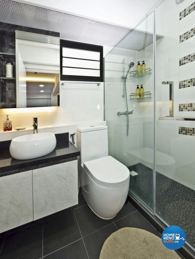 Classical, Minimalist, Modern Design - Bathroom - HDB 4 Room - Design by Design Profession Pte Ltd