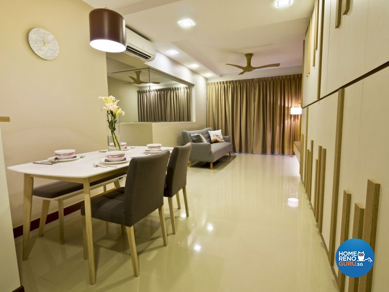 Contemporary, Modern, Scandinavian Design - Dining Room - HDB 4 Room - Design by Design Profession Pte Ltd