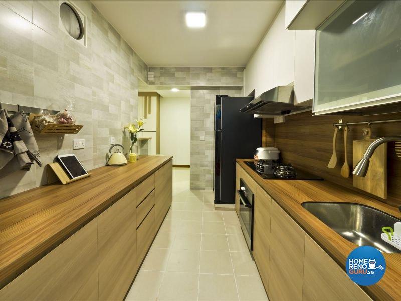 Contemporary, Modern, Scandinavian Design - Kitchen - HDB 4 Room - Design by Design Profession Pte Ltd
