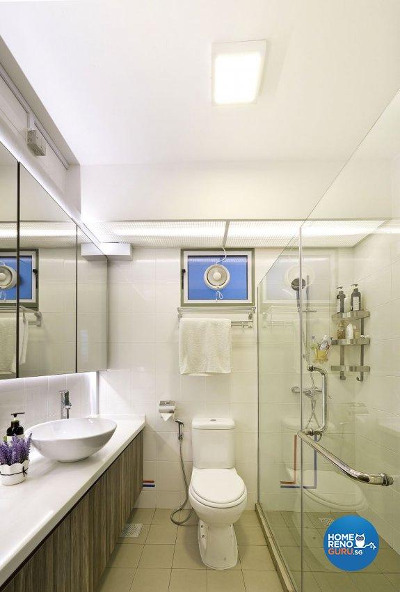 Contemporary, Modern, Scandinavian Design - Bathroom - HDB 4 Room - Design by Design Profession Pte Ltd
