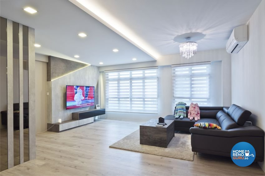 Classical, Contemporary, Modern Design - Living Room - HDB 5 Room - Design by Design Profession Pte Ltd