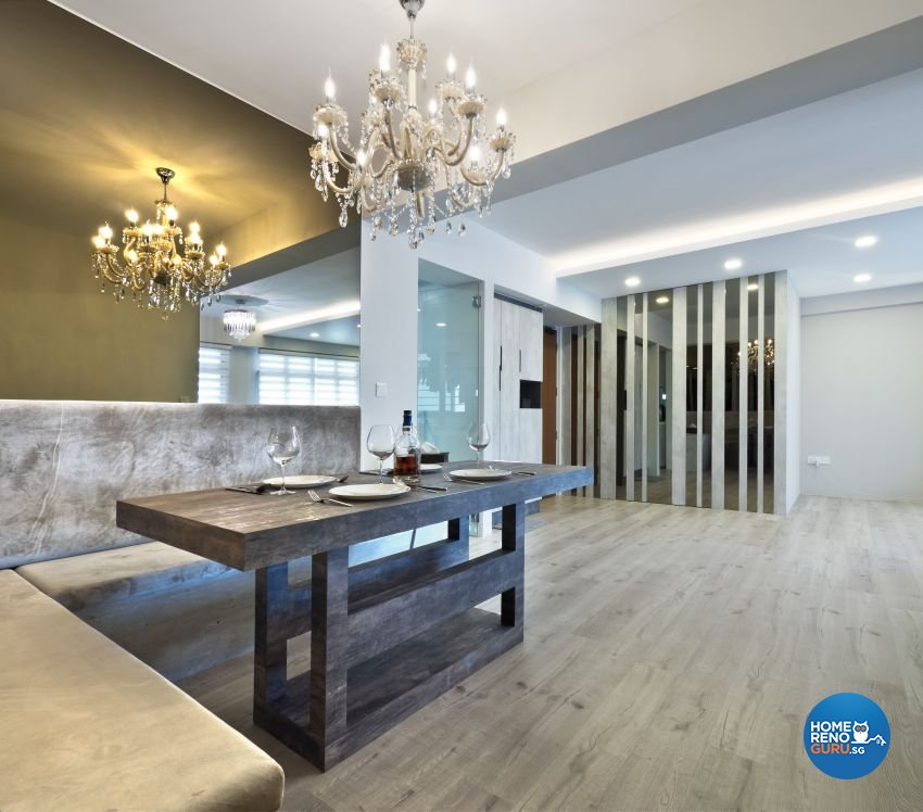 Classical, Contemporary, Modern Design - Dining Room - HDB 5 Room - Design by Design Profession Pte Ltd