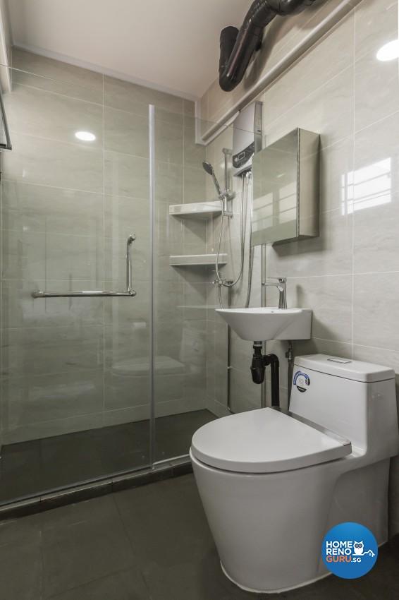 Modern Design - Bathroom - HDB 4 Room - Design by Design Profession Pte Ltd