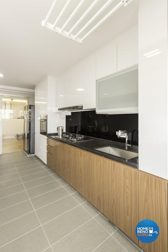Modern Design - Kitchen - HDB 4 Room - Design by Design Profession Pte Ltd
