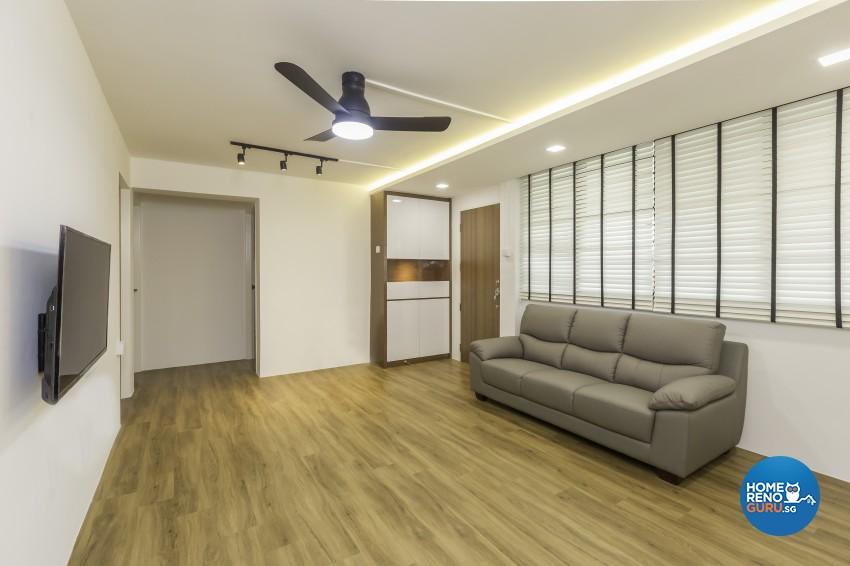Modern Design - Living Room - HDB 4 Room - Design by Design Profession Pte Ltd