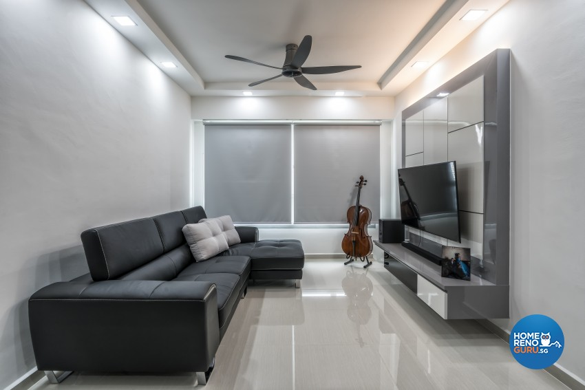 Scandinavian Design - Living Room - HDB Executive Apartment - Design by Design Profession Pte Ltd