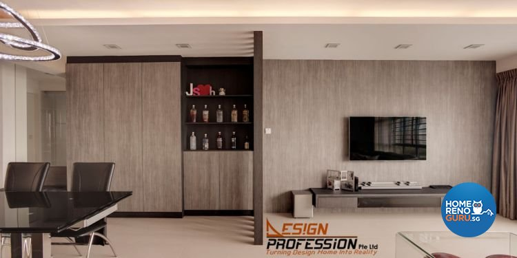 Contemporary, Industrial, Modern Design - Living Room - HDB 5 Room - Design by Design Profession Pte Ltd
