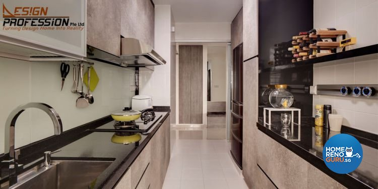 Contemporary, Industrial, Modern Design - Kitchen - HDB 5 Room - Design by Design Profession Pte Ltd