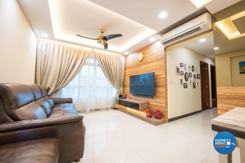Contemporary, Resort, Scandinavian Design - Living Room - HDB 4 Room - Design by Designstyle Studio Pte Ltd