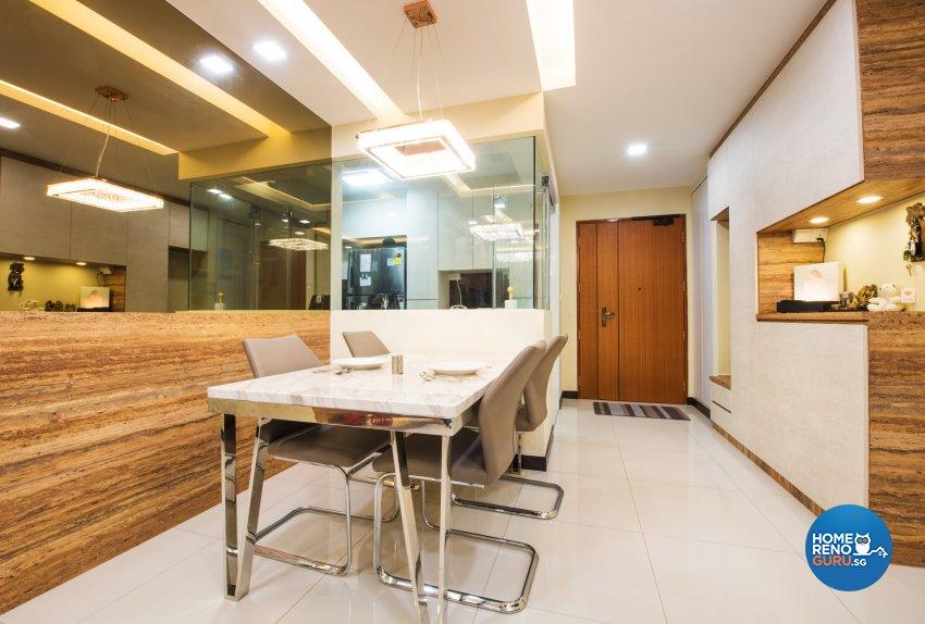 Contemporary, Resort, Scandinavian Design - Dining Room - HDB 4 Room - Design by Designstyle Studio Pte Ltd