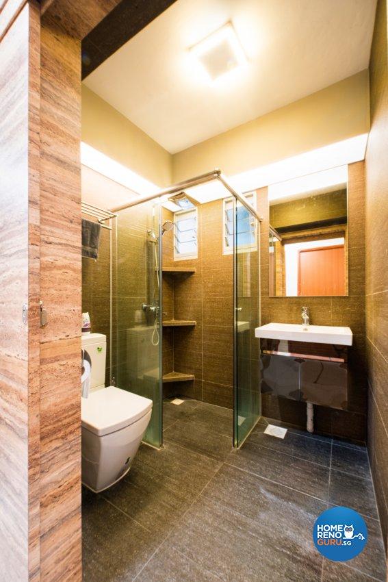 Contemporary, Resort, Scandinavian Design - Bathroom - HDB 4 Room - Design by Designstyle Studio Pte Ltd