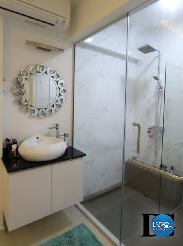 Contemporary, Modern Design - Bathroom - HDB 3 Room - Design by Designer Guy Group Pte Ltd