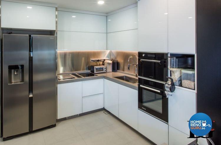 Modern, Scandinavian Design - Kitchen - Condominium - Design by Designer Guy Group Pte Ltd