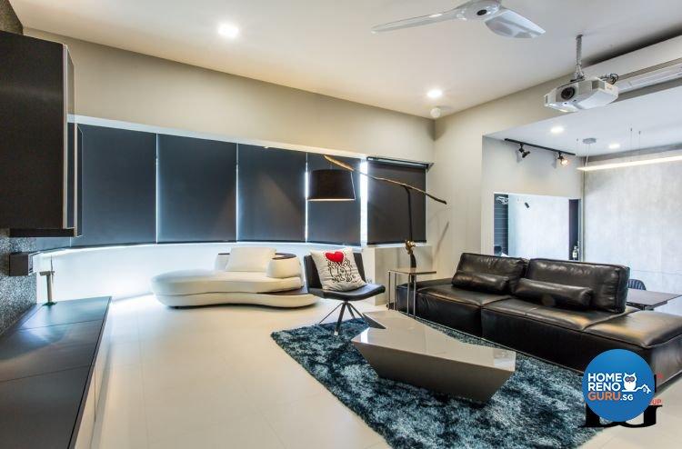 Modern, Scandinavian Design - Living Room - Condominium - Design by Designer Guy Group Pte Ltd