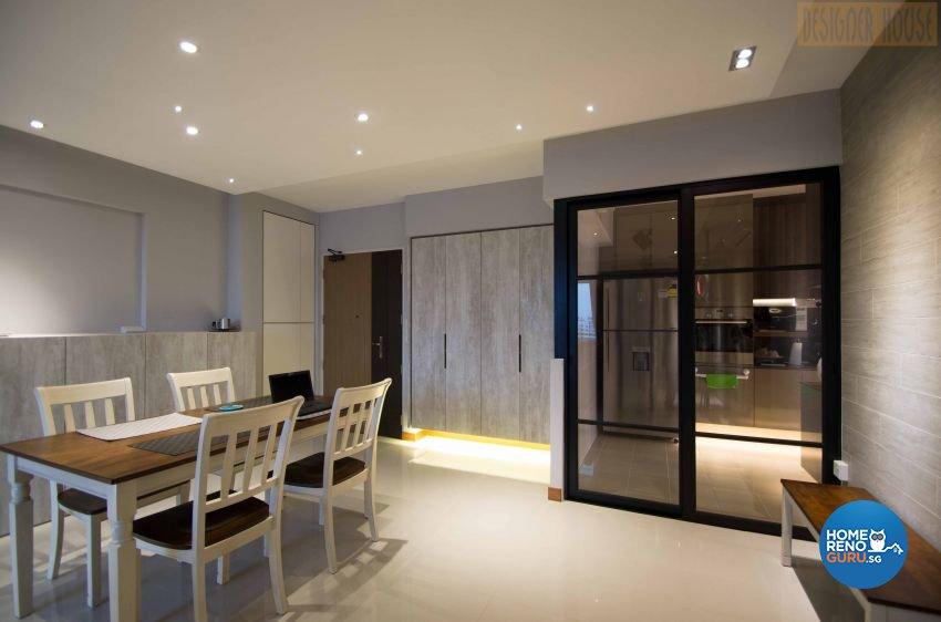 Modern Design - Dining Room - HDB Executive Apartment - Design by Designer House Pte Ltd