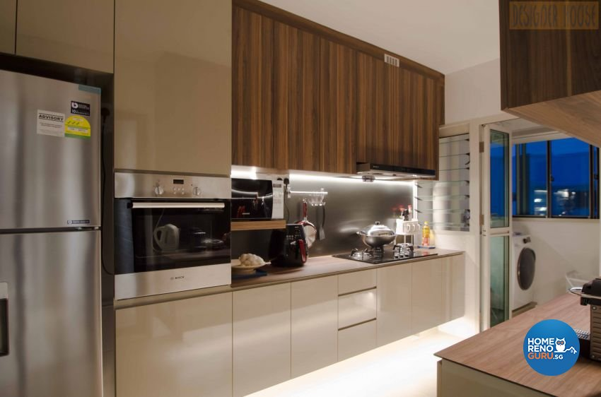 Modern Design - Kitchen - HDB Executive Apartment - Design by Designer House Pte Ltd