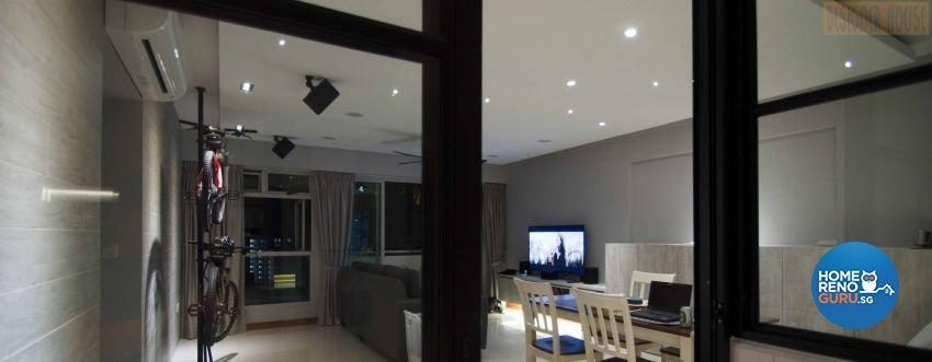 Modern Design - Living Room - HDB Executive Apartment - Design by Designer House Pte Ltd