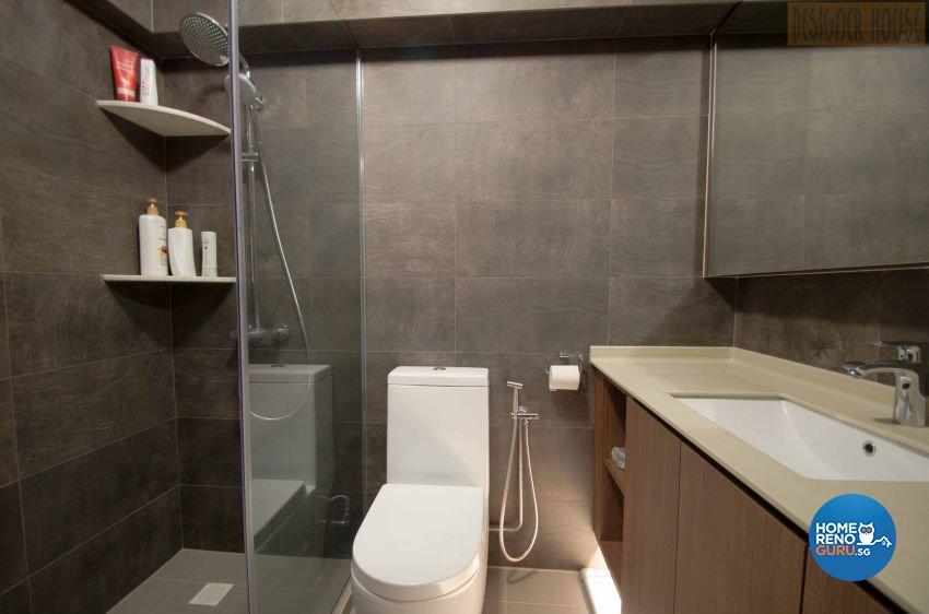 Modern Design - Bathroom - HDB Executive Apartment - Design by Designer House Pte Ltd