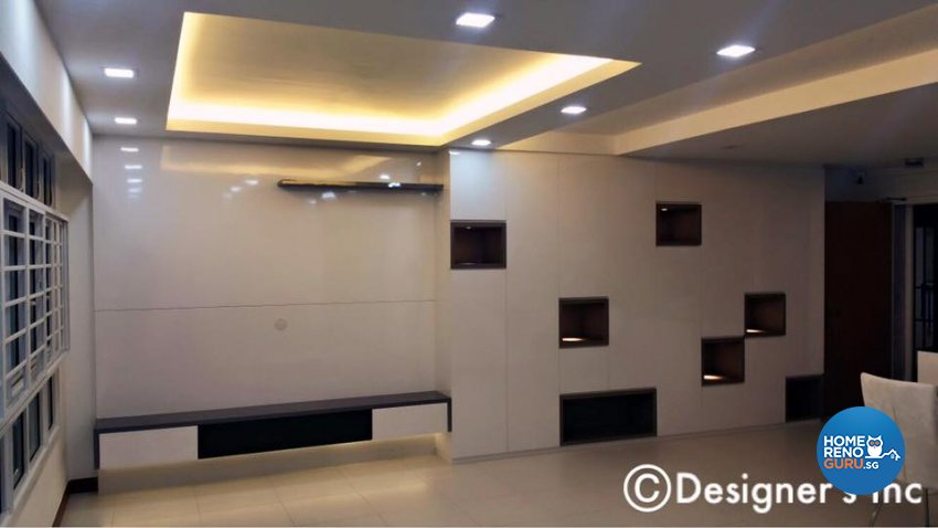 Contemporary, Modern Design - Living Room - HDB 4 Room - Design by Designers Inc Pte Ltd
