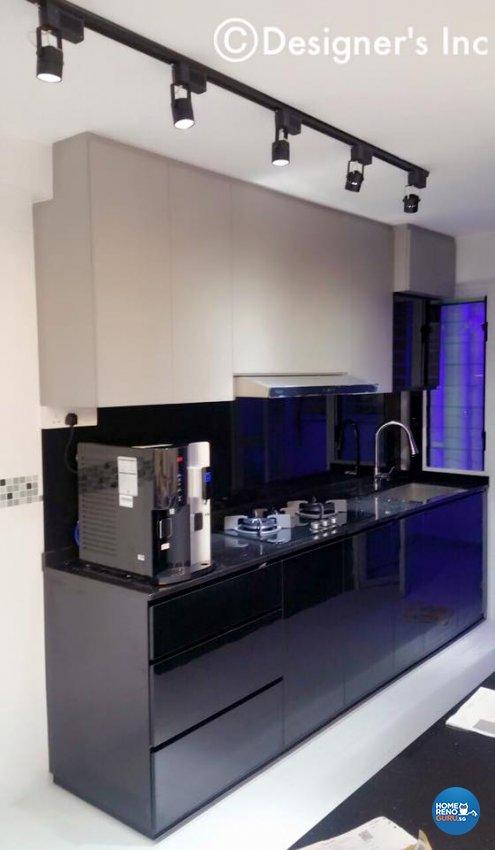 Contemporary, Modern Design - Kitchen - HDB 4 Room - Design by Designers Inc Pte Ltd