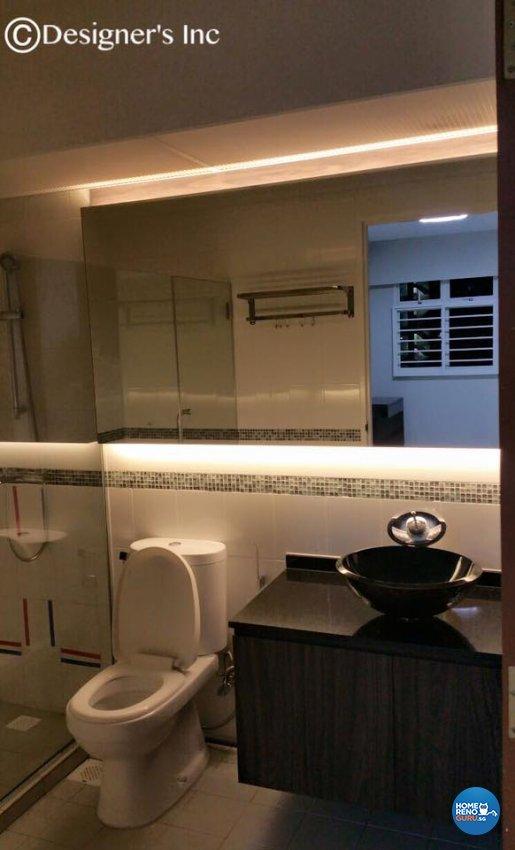 Contemporary, Modern Design - Bathroom - HDB 4 Room - Design by Designers Inc Pte Ltd