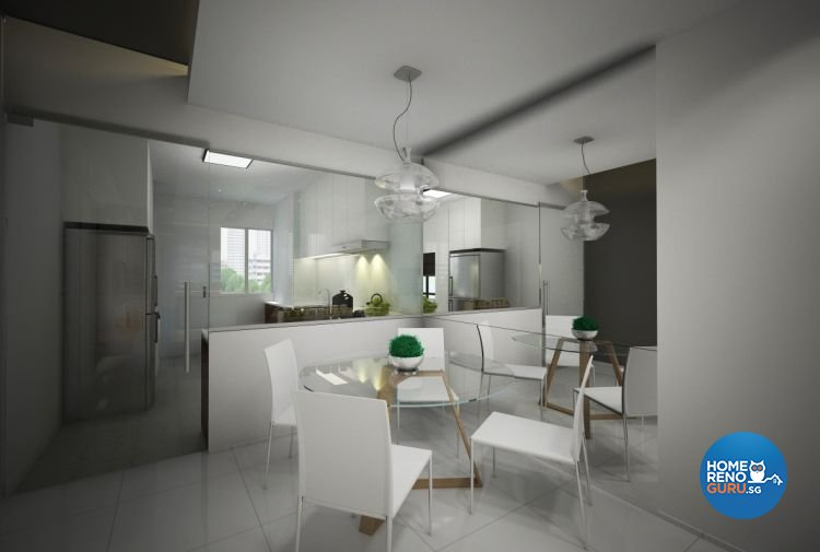 Contemporary, Minimalist Design - Dining Room - HDB 3 Room - Design by Designscale Pte Ltd