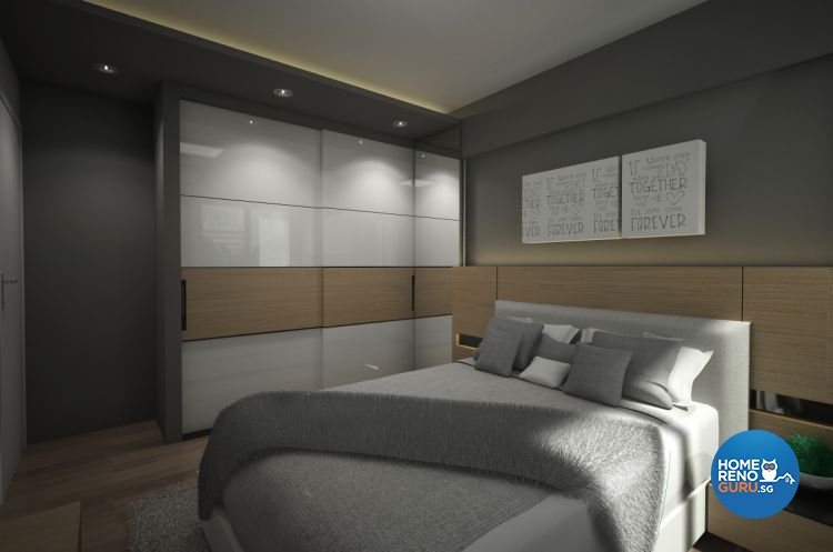 Contemporary, Minimalist Design - Bedroom - HDB 3 Room - Design by Designscale Pte Ltd