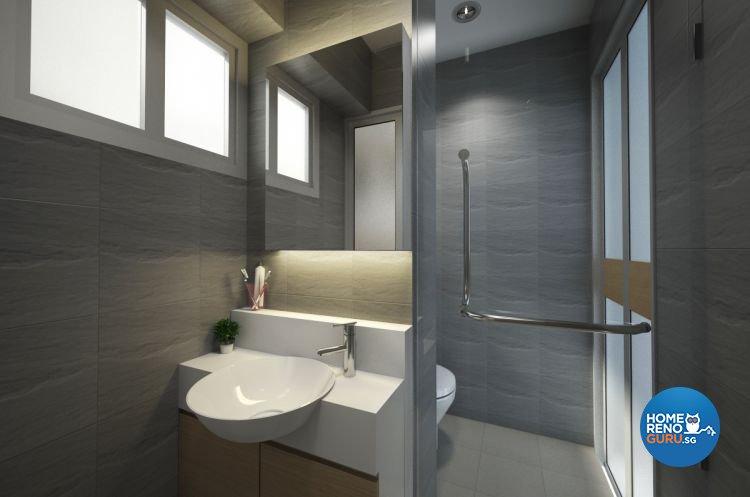 Contemporary, Minimalist Design - Bathroom - HDB 3 Room - Design by Designscale Pte Ltd