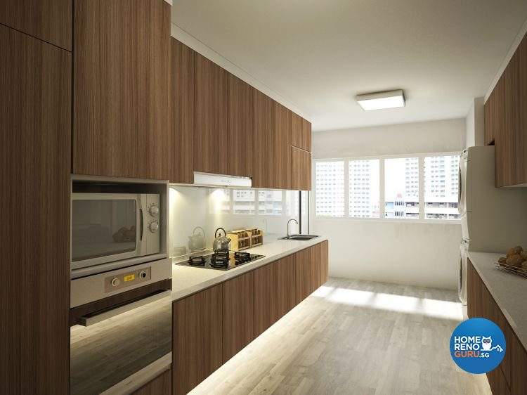 Minimalist Design - Kitchen - HDB 3 Room - Design by Designscale Pte Ltd
