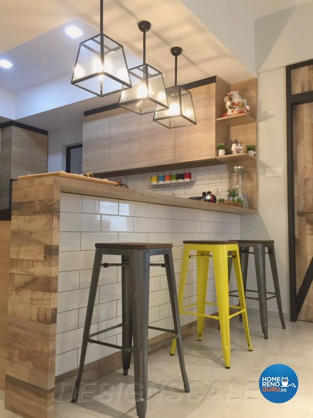 Contemporary Design - Kitchen - Condominium - Design by Designscale Pte Ltd