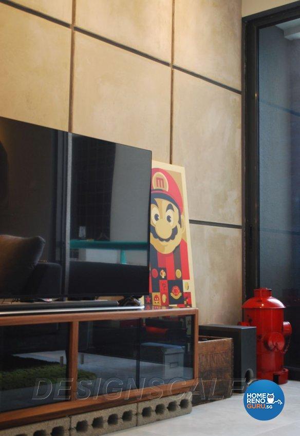 Contemporary Design - Living Room - Condominium - Design by Designscale Pte Ltd