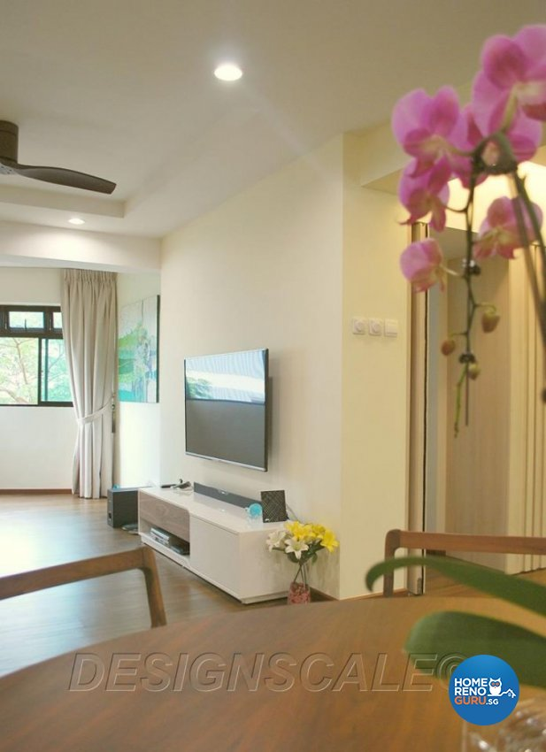 Contemporary, Tropical Design - Living Room - HDB 5 Room - Design by Designscale Pte Ltd