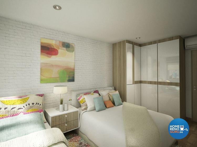 Contemporary, Tropical Design - Bedroom - HDB 5 Room - Design by Designscale Pte Ltd