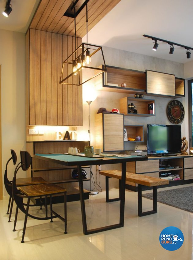 Contemporary, Industrial, Minimalist Design - Dining Room - Condominium - Design by Designscale Pte Ltd