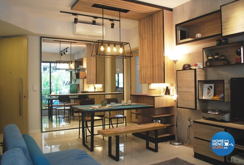 Contemporary, Industrial, Minimalist Design - Living Room - Condominium - Design by Designscale Pte Ltd